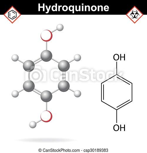 chimique, formule, hydroquinone - csp30189383