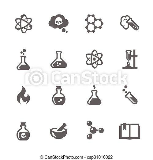 chimique, icônes - csp31016022