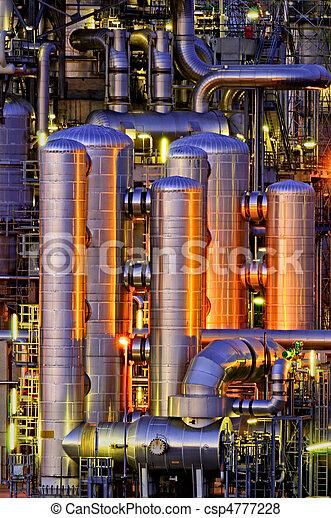 chimique, installation, nuit - csp4777228