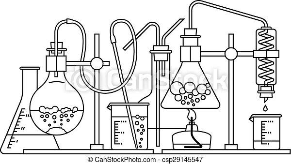 chimique, verrerie, icône - csp29145547