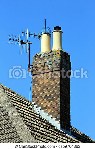 Chimney on roof - csp9704363