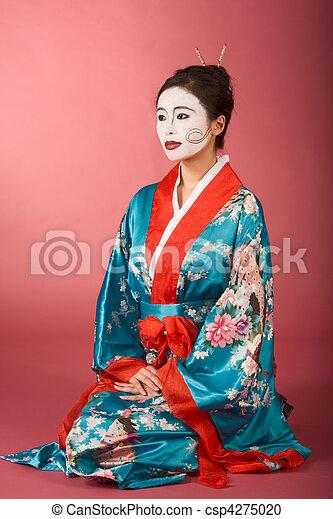 Chimono donna facepaint giapponese geisha yukata for Pavimento giapponese
