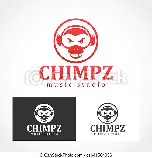 Chimpanzee Logo Symbol Suitable For Professional Design Clipart