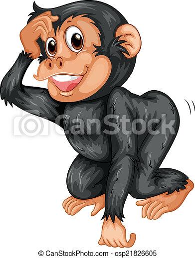 chimpanzee illustration of a black chimpanzee rh canstockphoto com chimpanzee clipart free Chimpanzee Tools