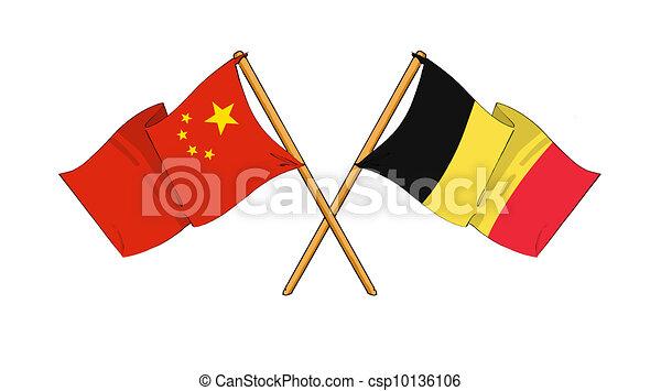 China and Belgium alliance and friendship - csp10136106