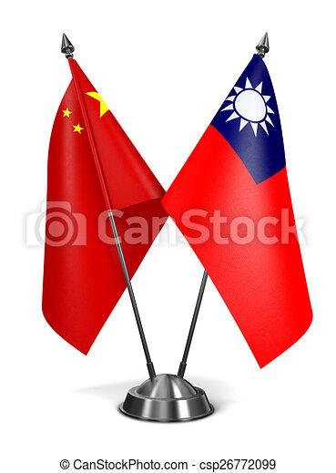 China and Republic China - Miniature Flags