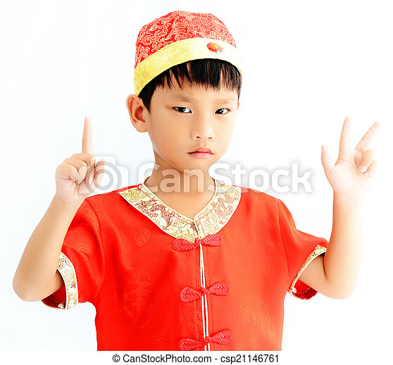 China boy in traditional chinese red tang suit greeting china boy in traditional chinese red tang suit greeting csp21146761 m4hsunfo