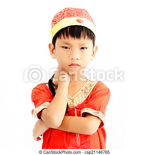 China boy in traditional chinese red tang suit greeting stock image china boy in traditional chinese red tang suit greeting csp21146765 m4hsunfo