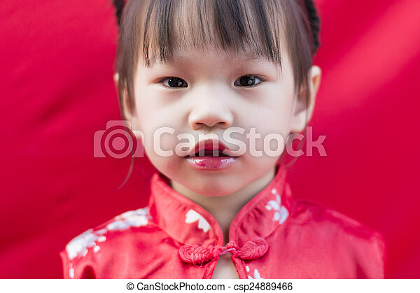 China girl in traditional chinese red tang suit greeting stock image china girl in traditional chinese red tang suit greeting csp24889466 m4hsunfo