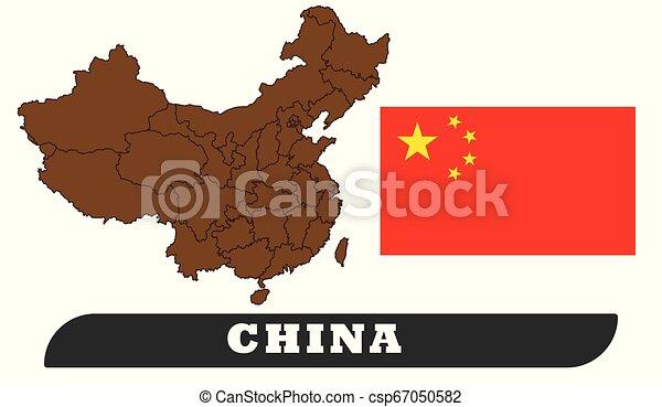 China map and flag - csp67050582
