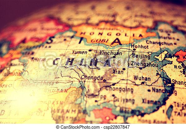 China on map china on atlas world map stock photo search china on map csp22807847 gumiabroncs Choice Image