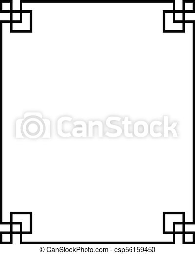 china pattern frame 03 - csp56159450