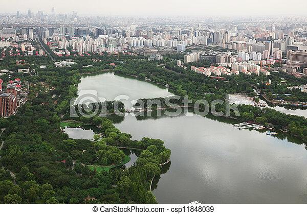 Sundown en Beijing, China - csp11848039