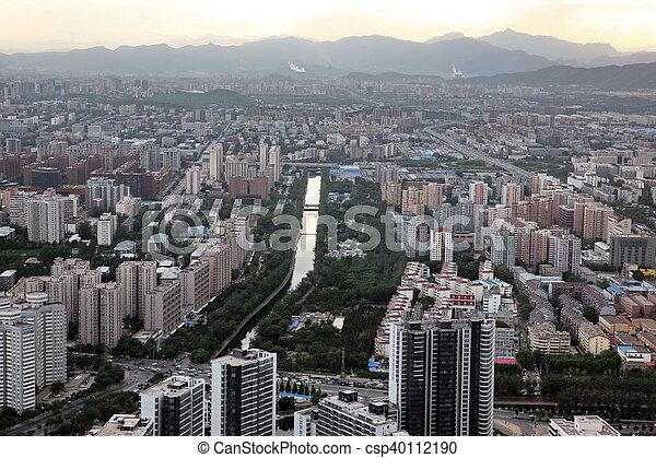 Sundown en Beijing, China - csp40112190