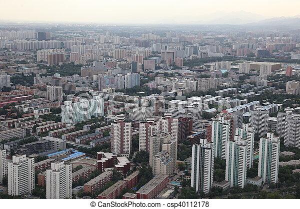 Sundown en Beijing, China - csp40112178