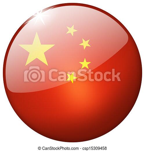 China Round Glass Button - csp15309458