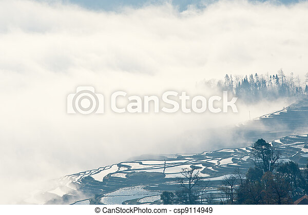 China Yunnan, Yuanyang terraced color - csp9114949