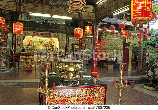 chinees begawan boeddhist azie zuidoosten bandar interieur tempel
