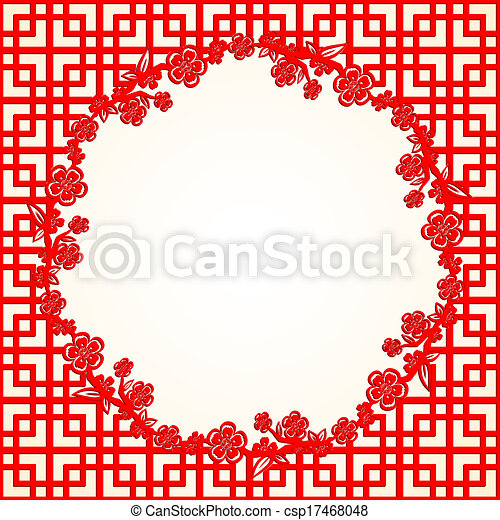 chinees, blossom , kers, achtergrond, jaar, nieuw - csp17468048