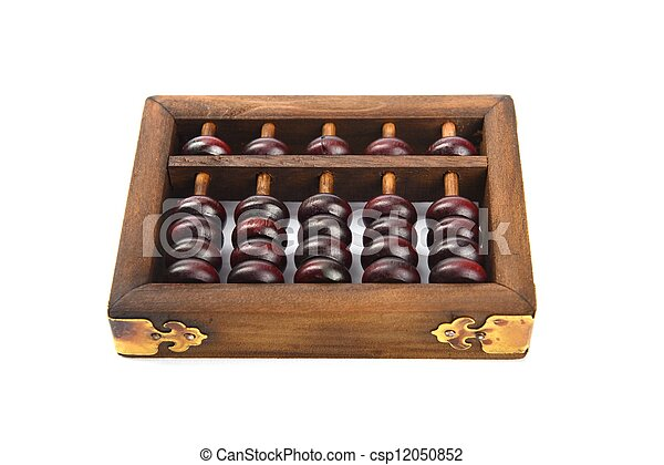 Chinese abacus mean symbols of wealth and prosperity. - csp12050852