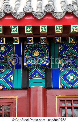 the details of roof of chinese architecture