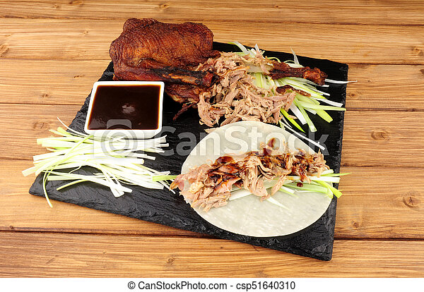 Chinese Aromatic Duck And Pancakes - csp51640310