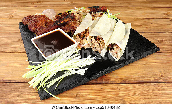 Chinese Aromatic Duck And Pancakes - csp51640432