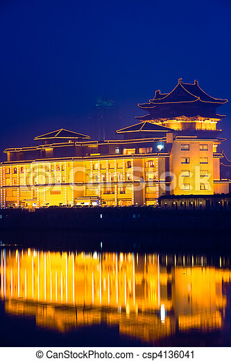 chinese building - csp4136041
