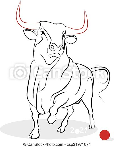 chinese new year 2021 of the ox ox year greeting or invitation card for the holiday vector illustration