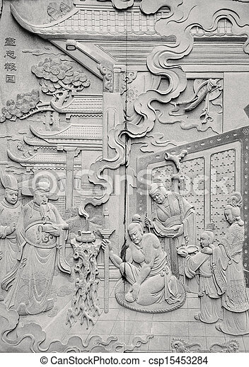 Chinese carving - csp15453284