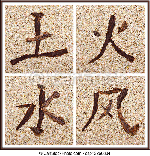 Chinese Character For Earth Fire Water Air Chinese Symbols For