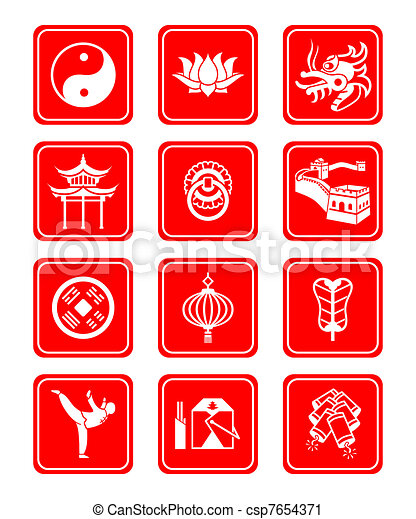 Chinese Culture Icons Traditional Chinese Culture Symbols And