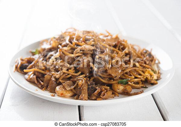 Chinese dish stir fried Char Kuey Teow - csp27083705