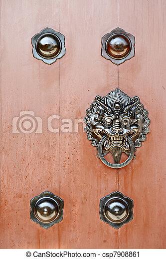 chinese door - csp7908861
