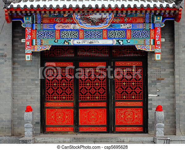 Chinese door - csp5695628