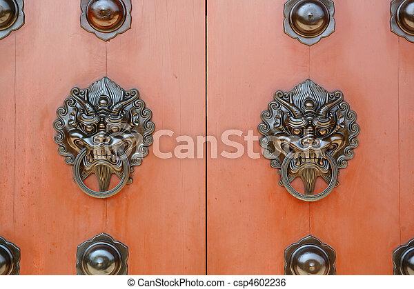 chinese door - csp4602236