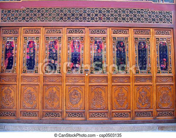 Chinese door - csp0503135 & Traditional chinese door.