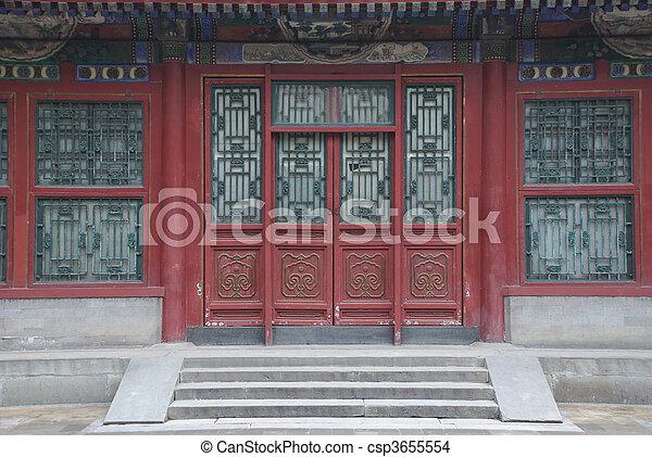 Chinese door - csp3655554