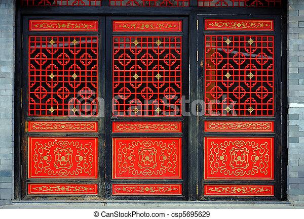 Chinese door - csp5695629