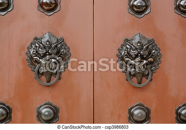 chinese door - csp3986803