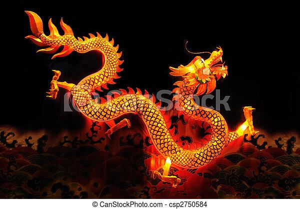 Chinese dragon lantern - csp2750584