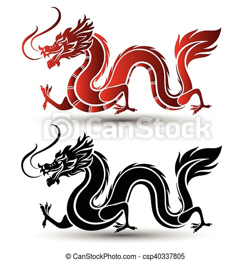 illustration of traditional chinese dragon vector vector clipart rh canstockphoto com dragon vector game dragon vector image