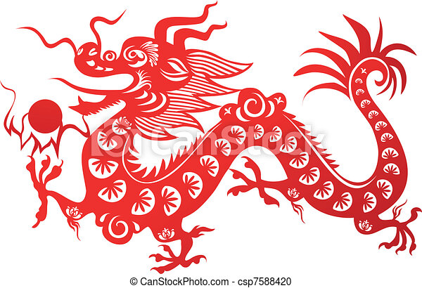 traditional chinese dragon symbol of the 2012 year vector clipart rh canstockphoto com chinese dragon clipart vectors chinese dragon images clip art