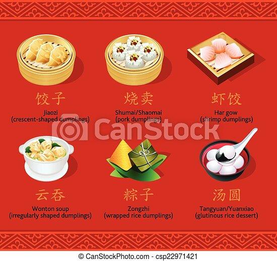 Chinese dumplings, set I - csp22971421