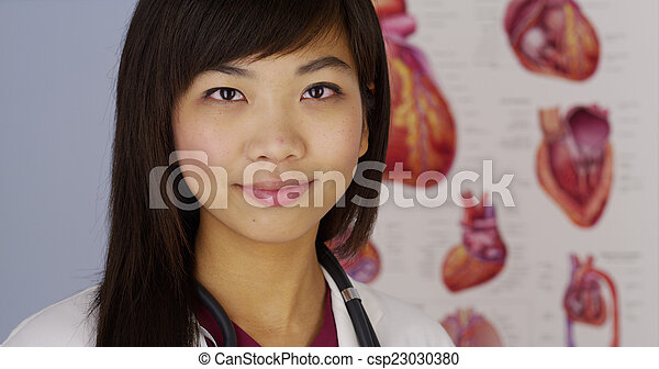 Chinese female cardiologist - csp23030380