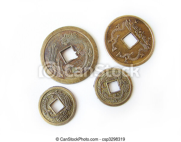 Chinese feng shui coins - csp3298319
