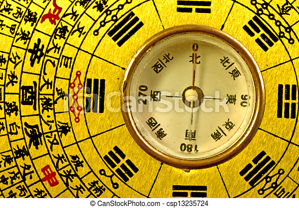 Chinese Feng Shui compass  - csp13235724