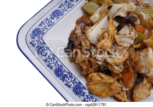 Chinese food. Chicken with vegetables - csp42611781