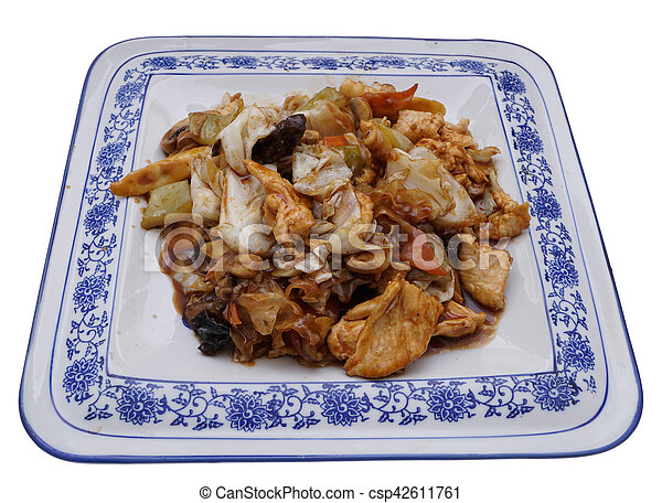 Chinese food. Chicken with vegetables - csp42611761