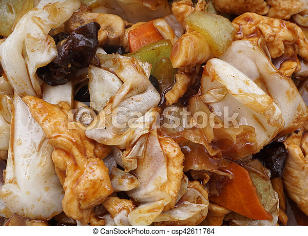 Chinese food. Chicken with vegetables - csp42611764